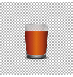 Glass of scotch whiskey vector