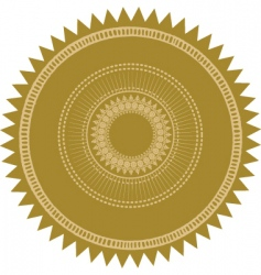 gold burst seal vector image