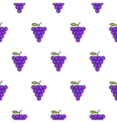 Grapes line icon seamless pattern vector image vector image
