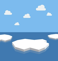 Ice floe in the sea vector image