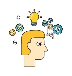 Idea and Brainstorm In Flat Design vector image
