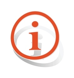 Information sign sticker orange vector