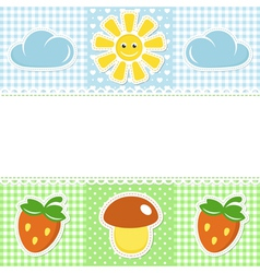 Lace border with summer icons vector image vector image