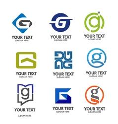 letter g logo set vector image