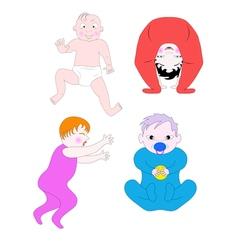 Little children vector