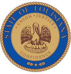 Louisiana Seal vector image vector image