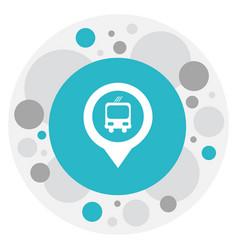 Of location symbol on bus stop vector