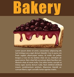 Poster design with blueberry cheesecake vector