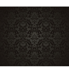 Seamless wallpaper pattern black vector image vector image