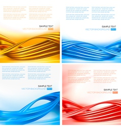 set of colorful backgrounds with abstract elements vector image vector image