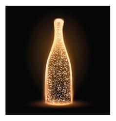 Sparkling bottle vector image vector image