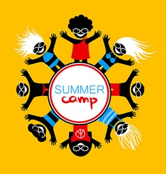 Summer camp template vector