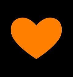 Tie sign orange icon on black background old vector