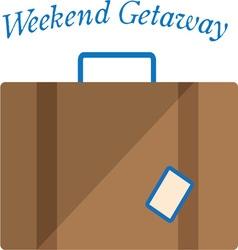 Weekend getaway vector