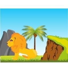 Wildlife lion in africa vector image