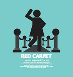 Woman Walking On Red Carpet Symbol vector image vector image