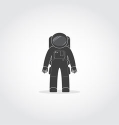 Astronaut black icon vector