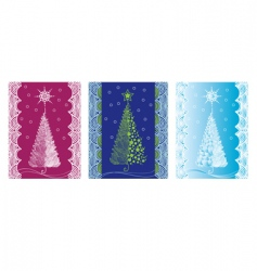 Christmas trees design vector