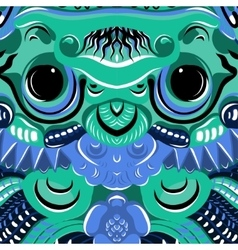 Todsakan face which is the demon king in Thai Khon vector image
