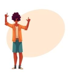 Young african american man dancing vector