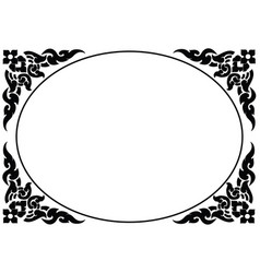 frame of thai pattern vector image