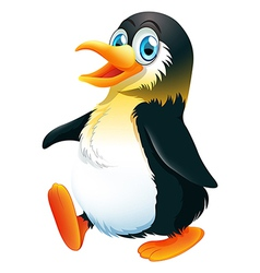 A penguin walking vector image