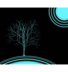 blue tree vector image