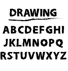 Drawing sketch alphabet handwritten font vector