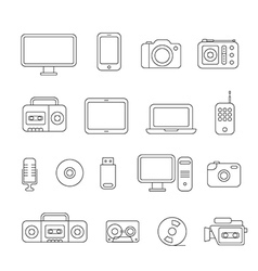 Different media devices collection vector