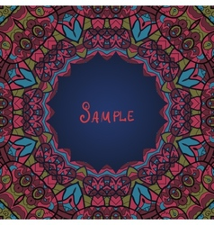 Round ornamental frame in ottoman style vector
