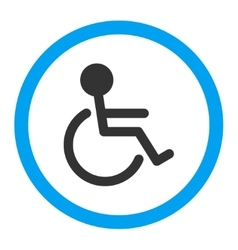 Handicapped rounded icon vector
