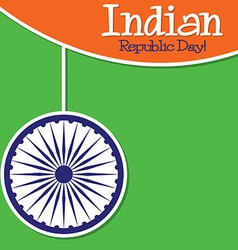 Bright string indian republic day card in format vector