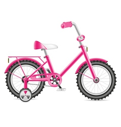 Kids bicycle for a girl vector