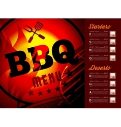 Design bbq menu vector