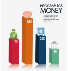 Infographics money design vector