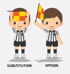 Soccer referee vector