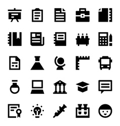 Education and school icons 3 vector