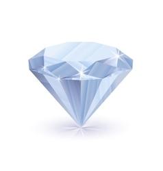 Dazzling shiny diamond on white vector image