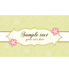abstract frame with flowers vector image