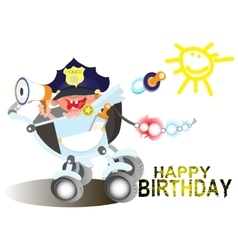 Birthday greetings for a police officer vector