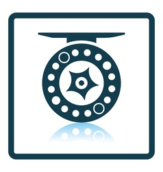 Icon of fishing reel vector