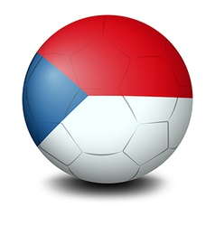 A soccer ball with the flag of czech republic vector