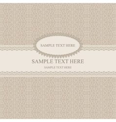 Beige vintage greetings vector image