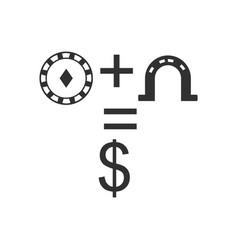 Black icon on white background chip horseshoe vector