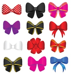 bow set in colorful vector image vector image