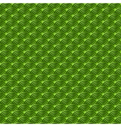 Chinese green seamless pattern dragon fish scales vector