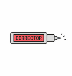 Corrector pen icon vector