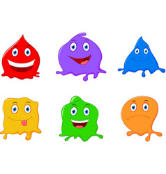 cute liquid cartoon character vector image vector image