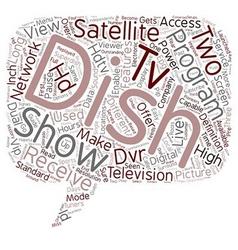 Dish hdtv satellite receiver text background vector