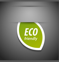Eco friendly tag vector
